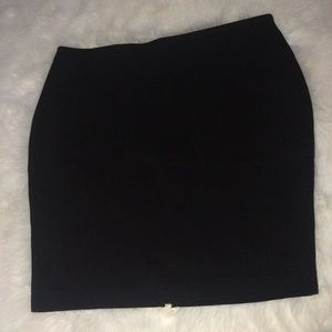 Express black pull on pencil skirt